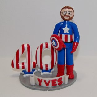 figurine anniversaire 40 ans Capitaine America Avengers