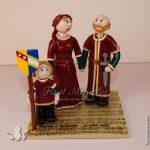 Figurines de mariage en tenue médiévale viking