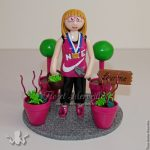 figurine anniversaire fille horticultrice