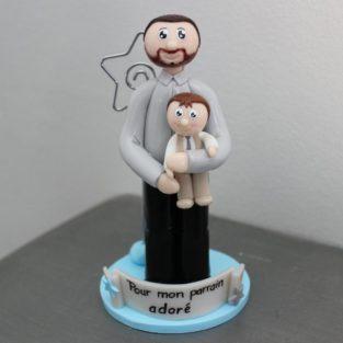 Figurine personnalisée anniversaire baptême communion - cake topper - sur mesre