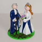 Figurines de mariage, en tenue médiévale fantastique