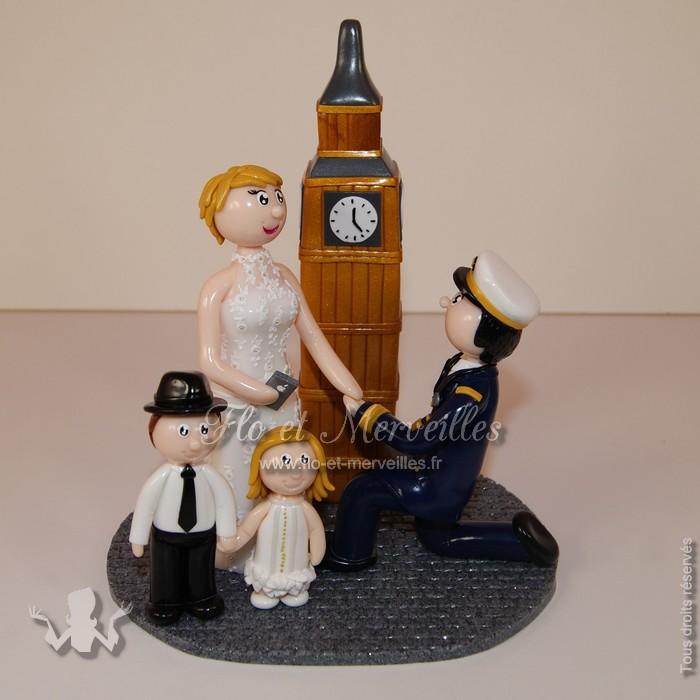 figurine de mariage devant Big Ben