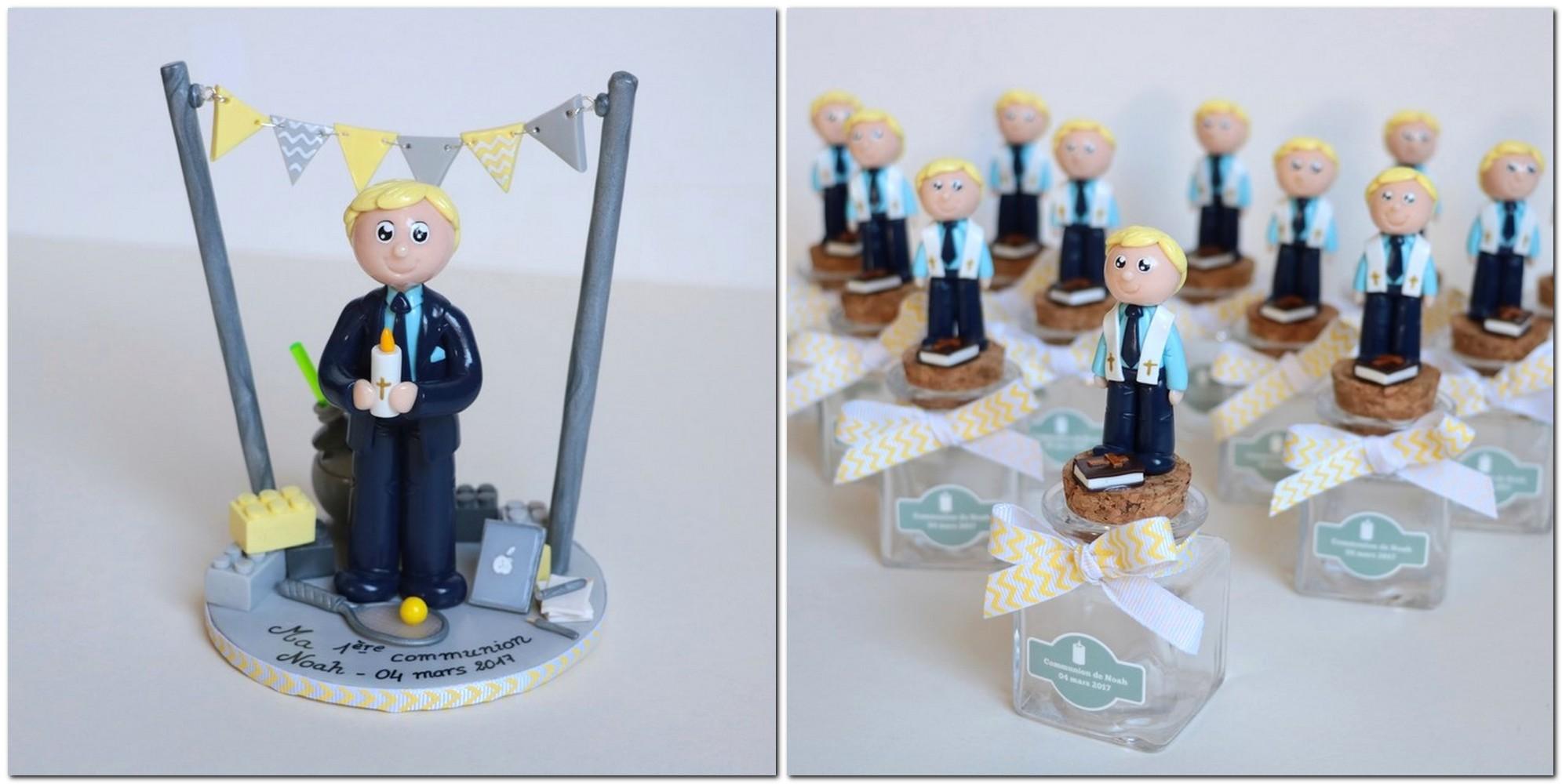 figurine communion et mini-figurine pour boite à dragées