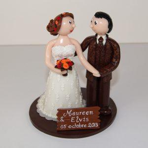 Mariage en automne : figurines personnalisées