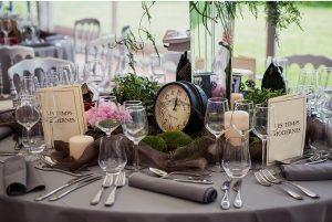 Mariage steampunk décoration de table - photo Raphael Melka