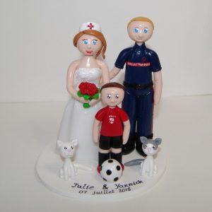 Figurines de mariage personnalisées - wedding cake topper - foot - Flo et Merveilles